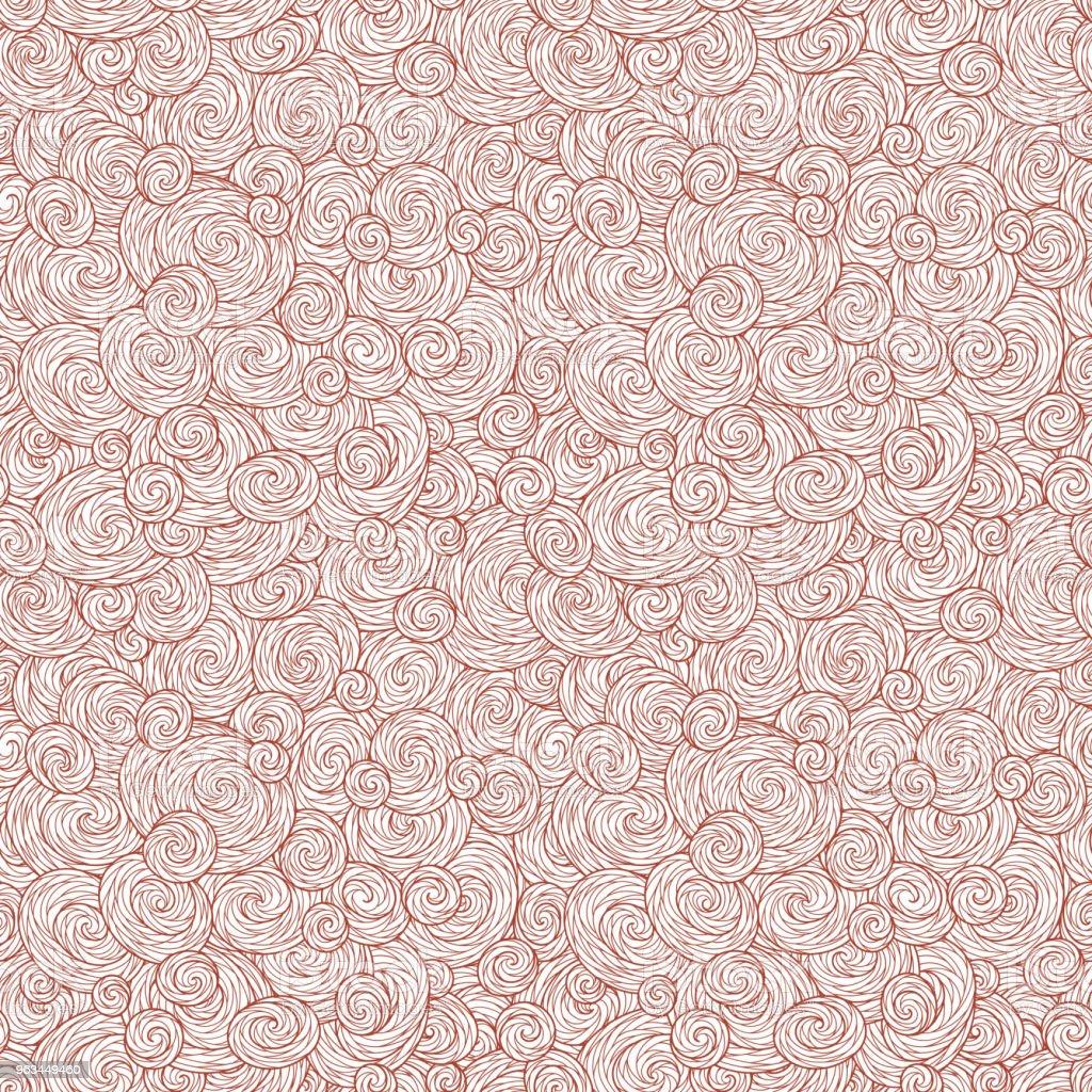 Seamless abstract hand-drawn waves pattern, wavy background. - Grafika wektorowa royalty-free (Abstrakcja)