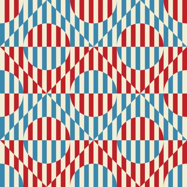 nahtlose abstrakte muster im sowjetischen stil konstruktivismus. vektor der 20er jahre vintage geometrische ornament - avantgarde stock-grafiken, -clipart, -cartoons und -symbole