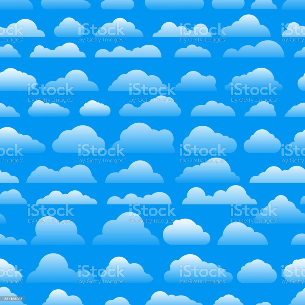 Seamless abstract pattern with clouds. Cartoon clous vector background royalty-free seamless abstract pattern with clouds cartoon clous vector background stock vector art & more images of art
