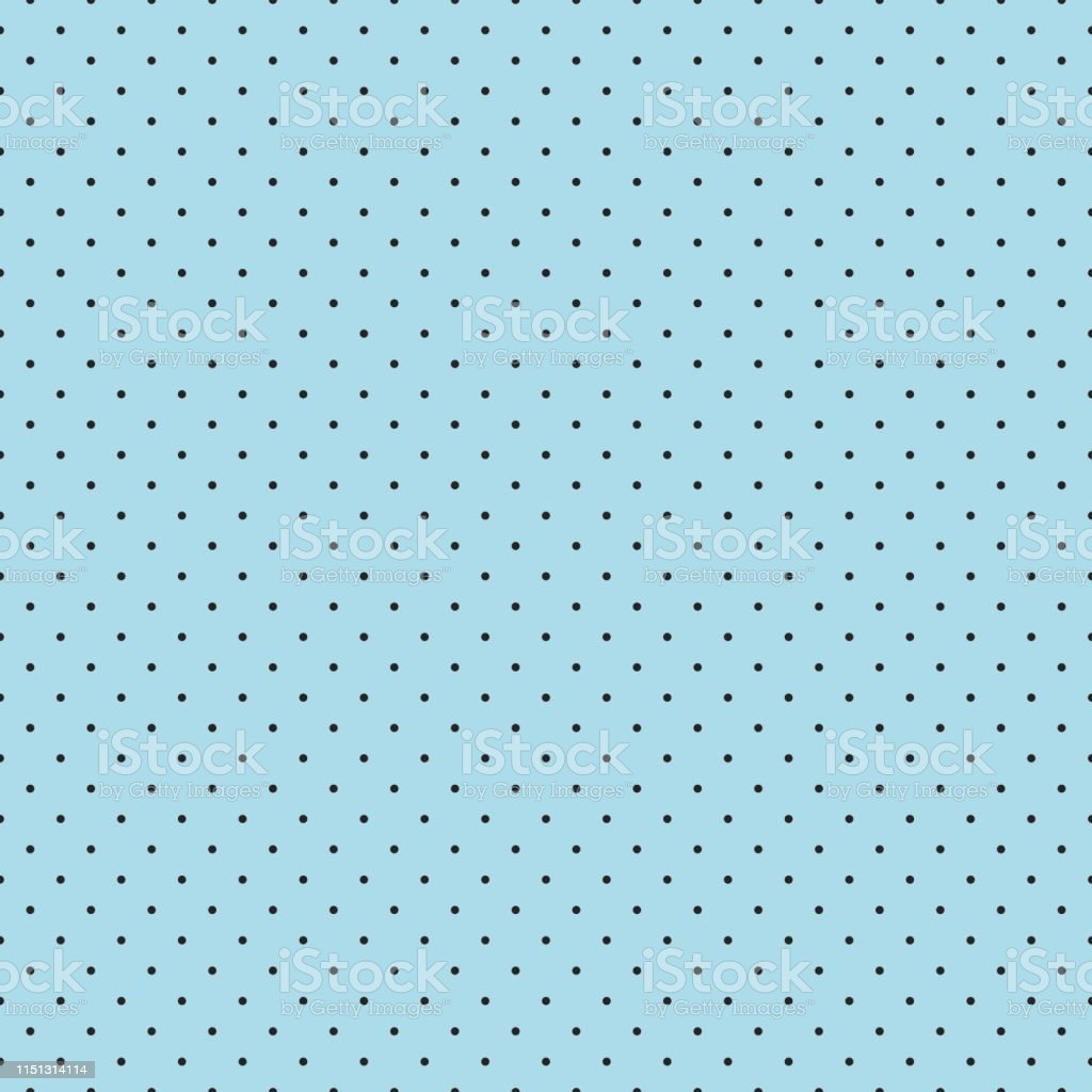 Seamless Abstract Polka Dot Shapes On Light Blue Background