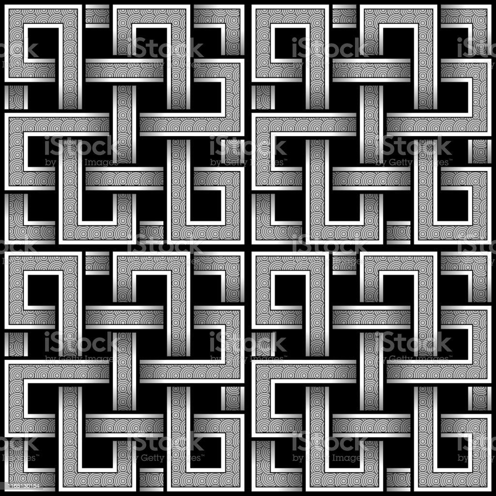 Seamless Abstract Square Viking Wallpaper Stock Illustration