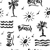 istock Seamless abstract summer brush pattern 954666824