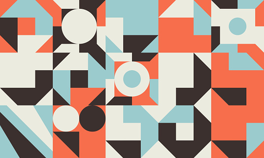 Seamless Abstract Vector Pattern Design With Geometric Repetitive Shapes Tiles
