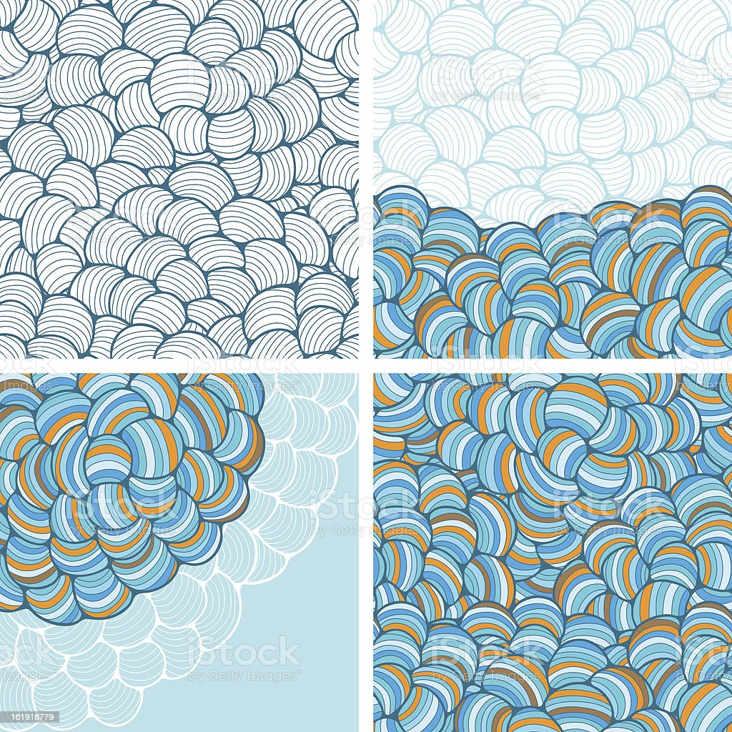 Seamless abstract wave hand-drawn patterns. royalty-free seamless abstract wave handdrawn patterns stock vector art & more images of abstract