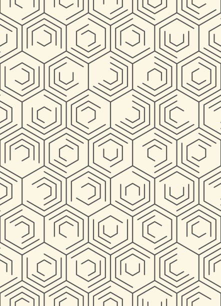 Nahtlose abstrakte Web Linie Wallpaper. Minimalistische Mode-Design – Vektorgrafik