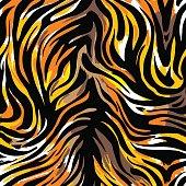 Seamless abstract wild exotic animal print.Leopard, zebra,gepard, tiger striped pattern.