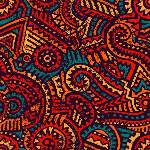 無縫的非洲模式。種族和部落圖案。 - africa 幅插畫檔、美工圖案、卡通及圖標