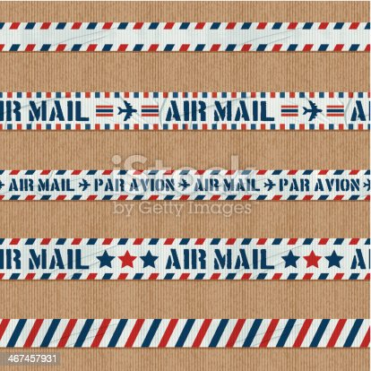 seamless air mail duct tape banners