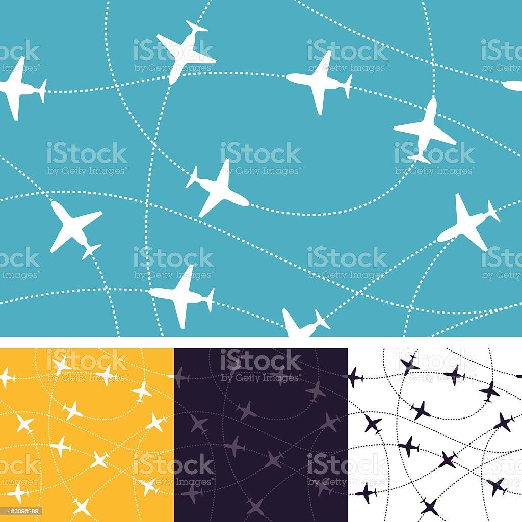 Seamless Air Travel vector art illustration