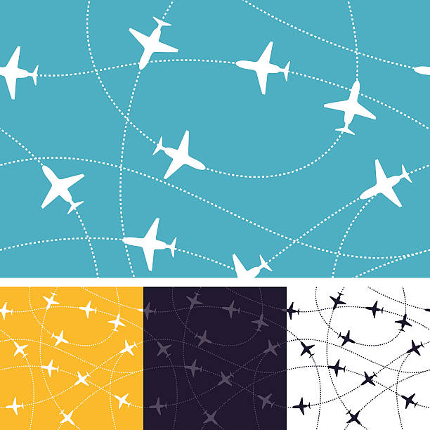 Seamless Air Travel Seamless air travel background.  airport backgrounds stock illustrations