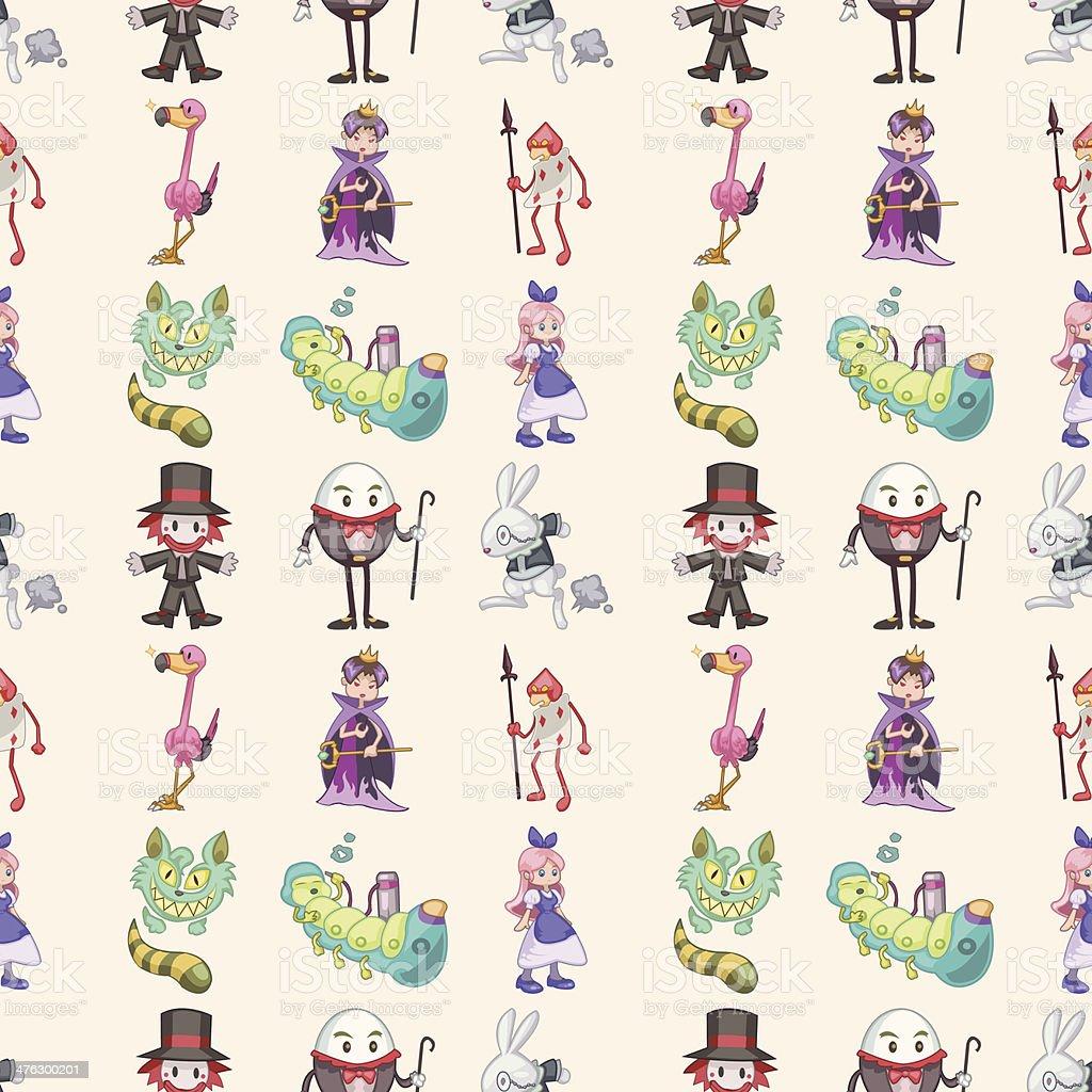 seamless Alice in Wonderland pattern,