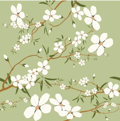 seamless almond tree wallpaper