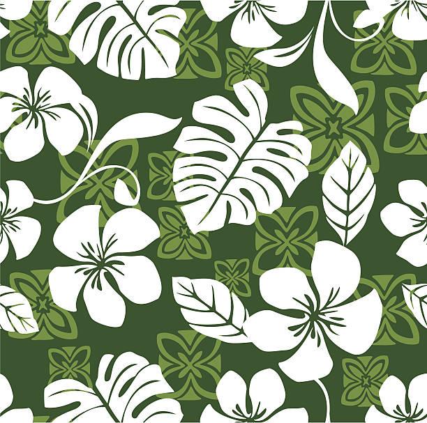 Seamless Aloha Friday Hawaiian Shirt Pattern vector art illustration