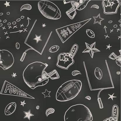 Seamless American football background