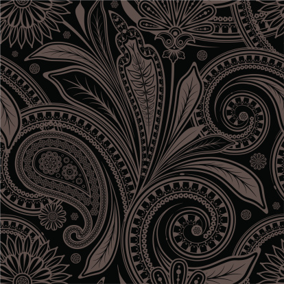 seamless  an ornament  with paisley