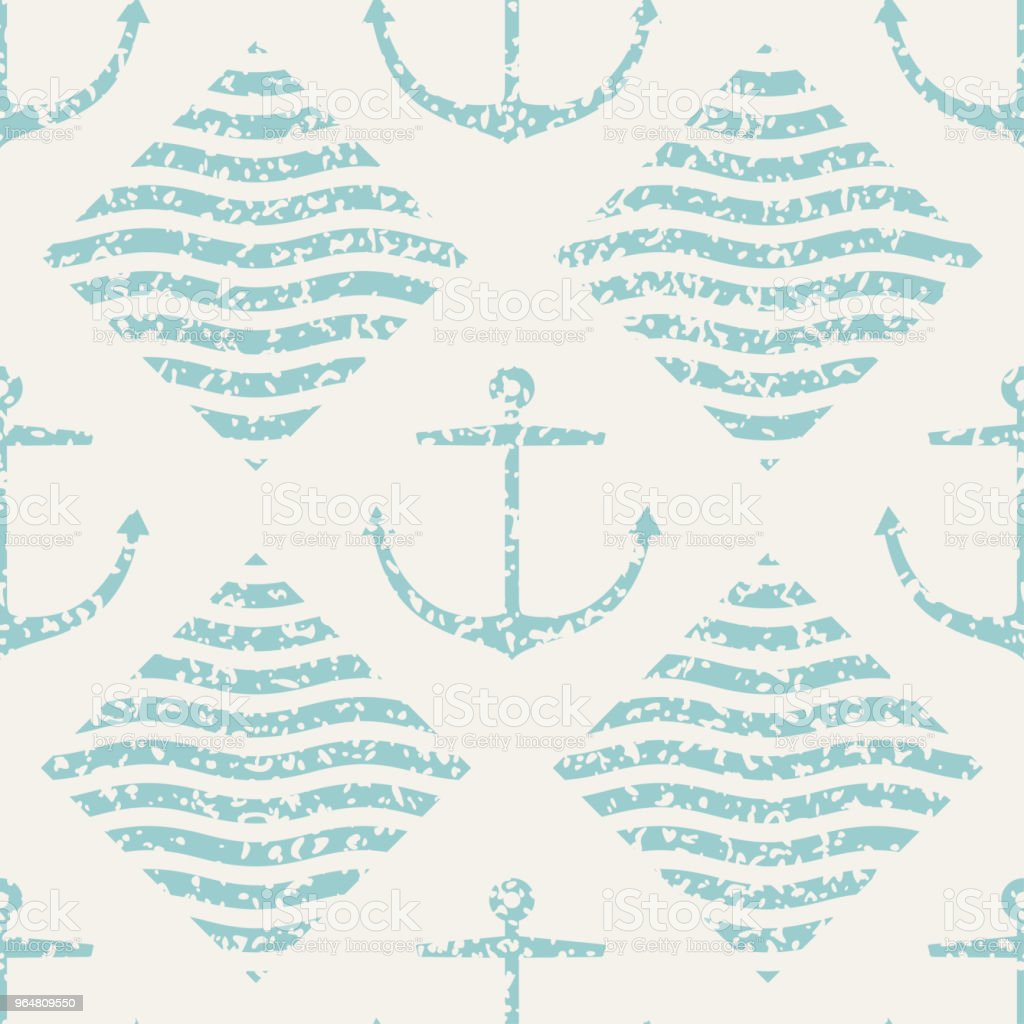 Seamless anchor and wave pattern royalty-free seamless anchor and wave pattern stock vector art & more images of anchor - vessel part