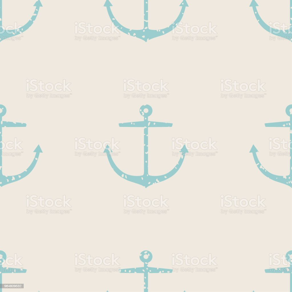 Seamless anchor pattern with grunge texture royalty-free seamless anchor pattern with grunge texture stock vector art & more images of anchor - vessel part