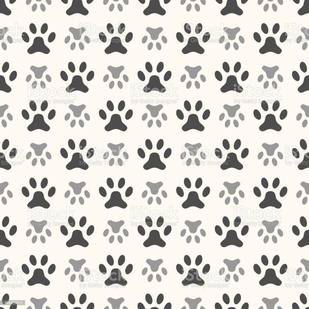 Ilustración de Patrón Sin Costuras De Animales De Huella De Pata ...