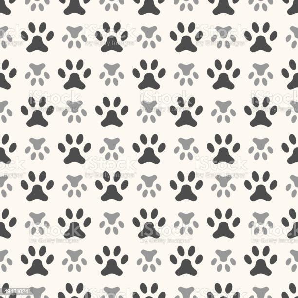 Seamless animal pattern of paw footprint endless texture can be vector id494310241?b=1&k=6&m=494310241&s=612x612&h=sndpskyhqlfrraaiuwdtlkpm550lfi3ijgnpbetj qy=
