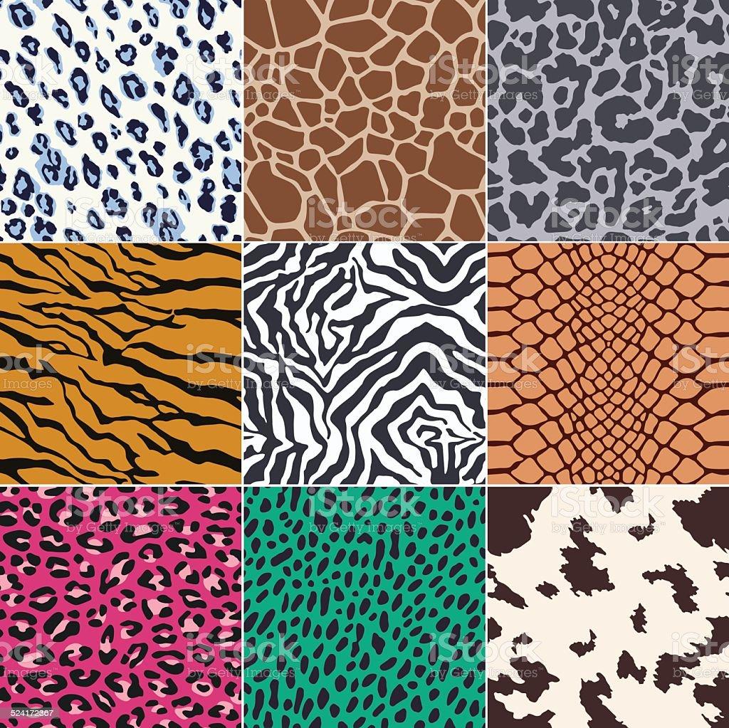 Excelente patrón de piel animal - ilustración de arte vectorial