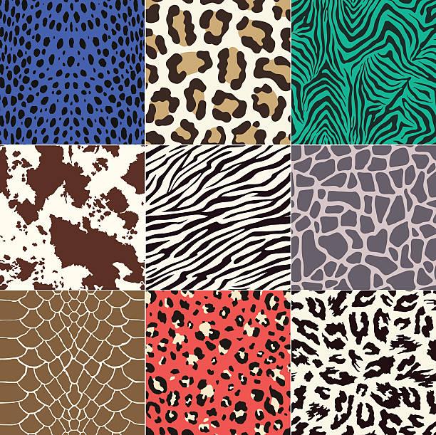 seamless animal skin pattern - fur texture stock illustrations, clip art, cartoons, & icons