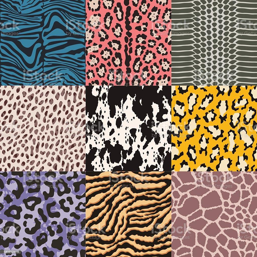 Nahtlose Tierhaut Muster – Vektorgrafik