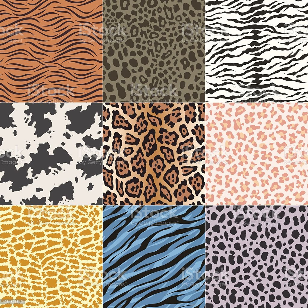 seamless animal skin pattern vector art illustration