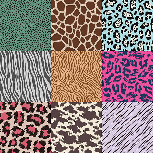 seamless animal skin pattern - leopard texture stock illustrations, clip art, cartoons, & icons