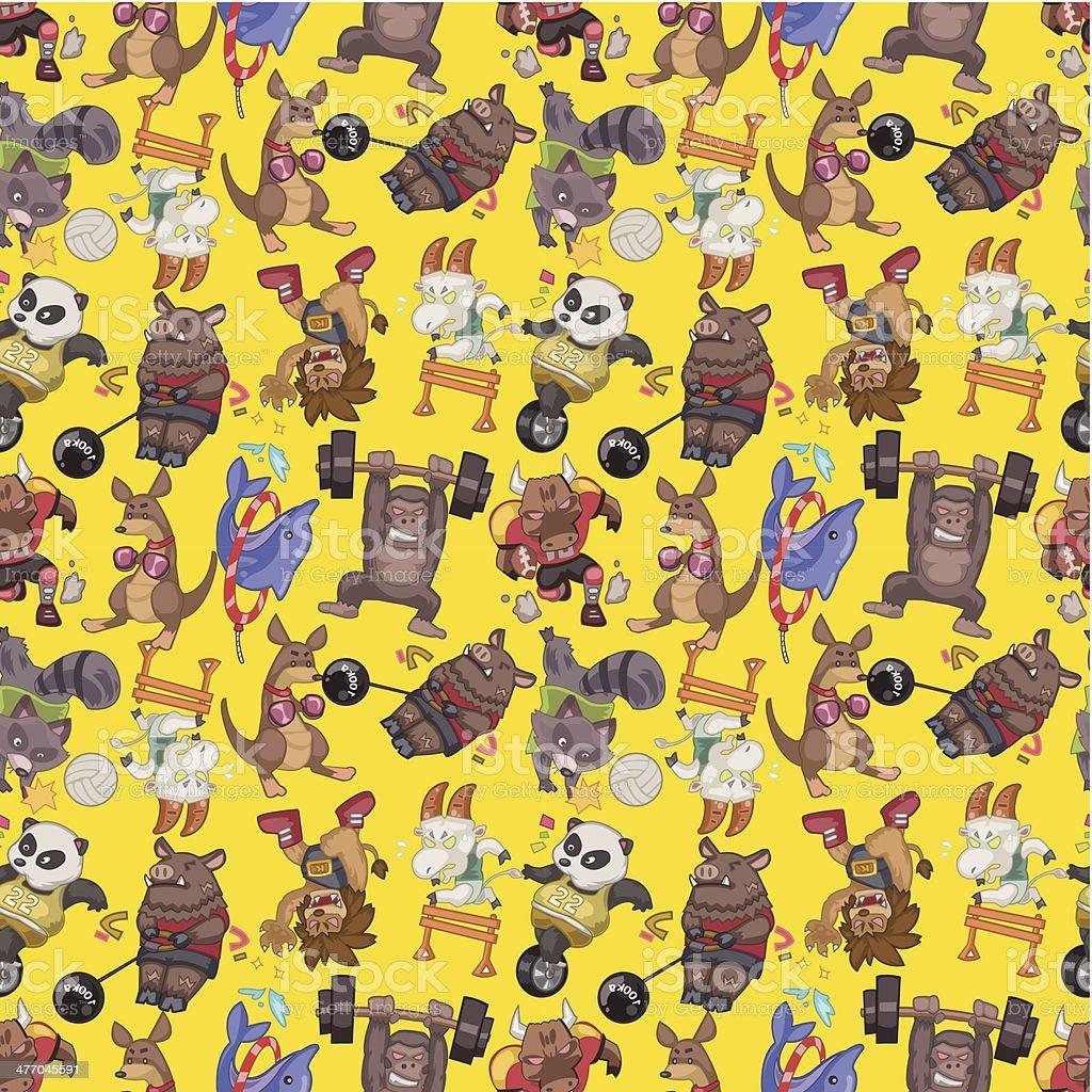 seamless animal sport pattern vector art illustration