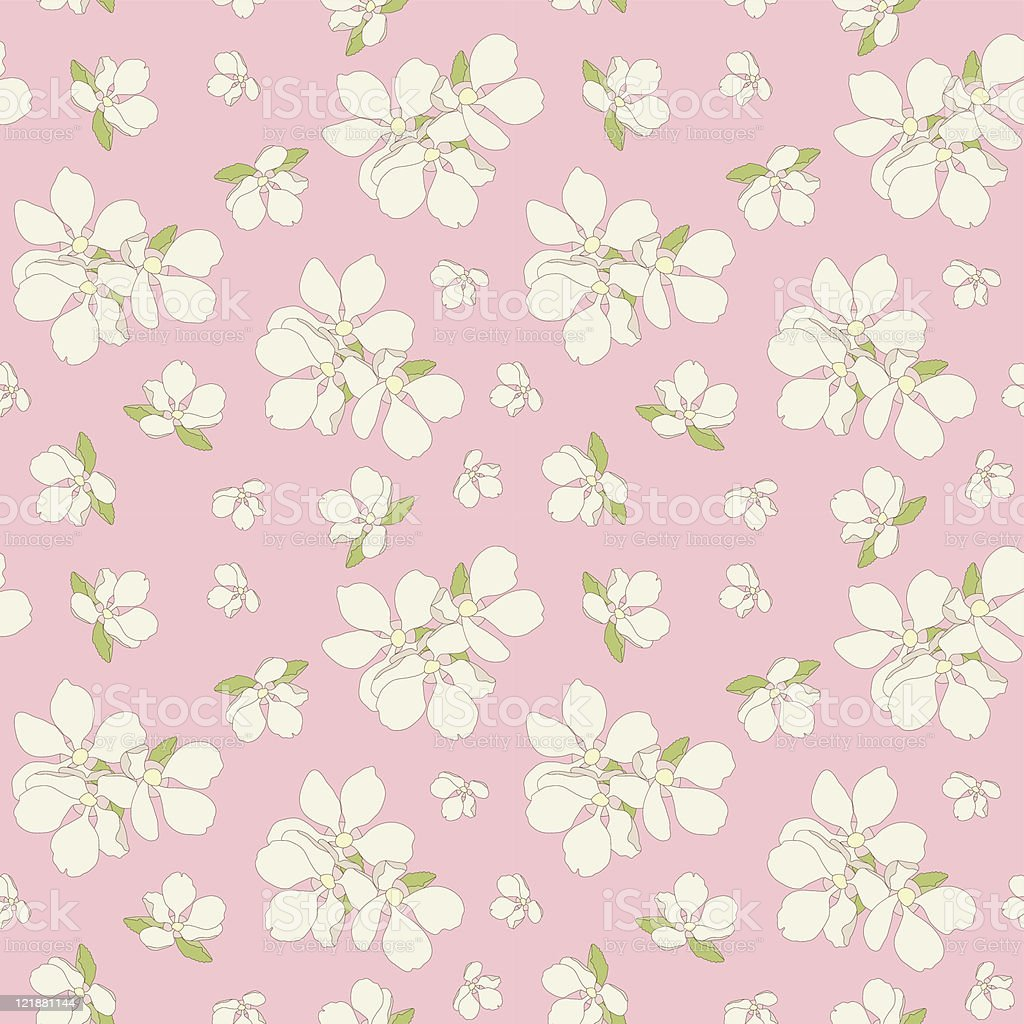 Seamless apple blossom background. royalty-free seamless apple blossom background stock vector art & more images of backgrounds