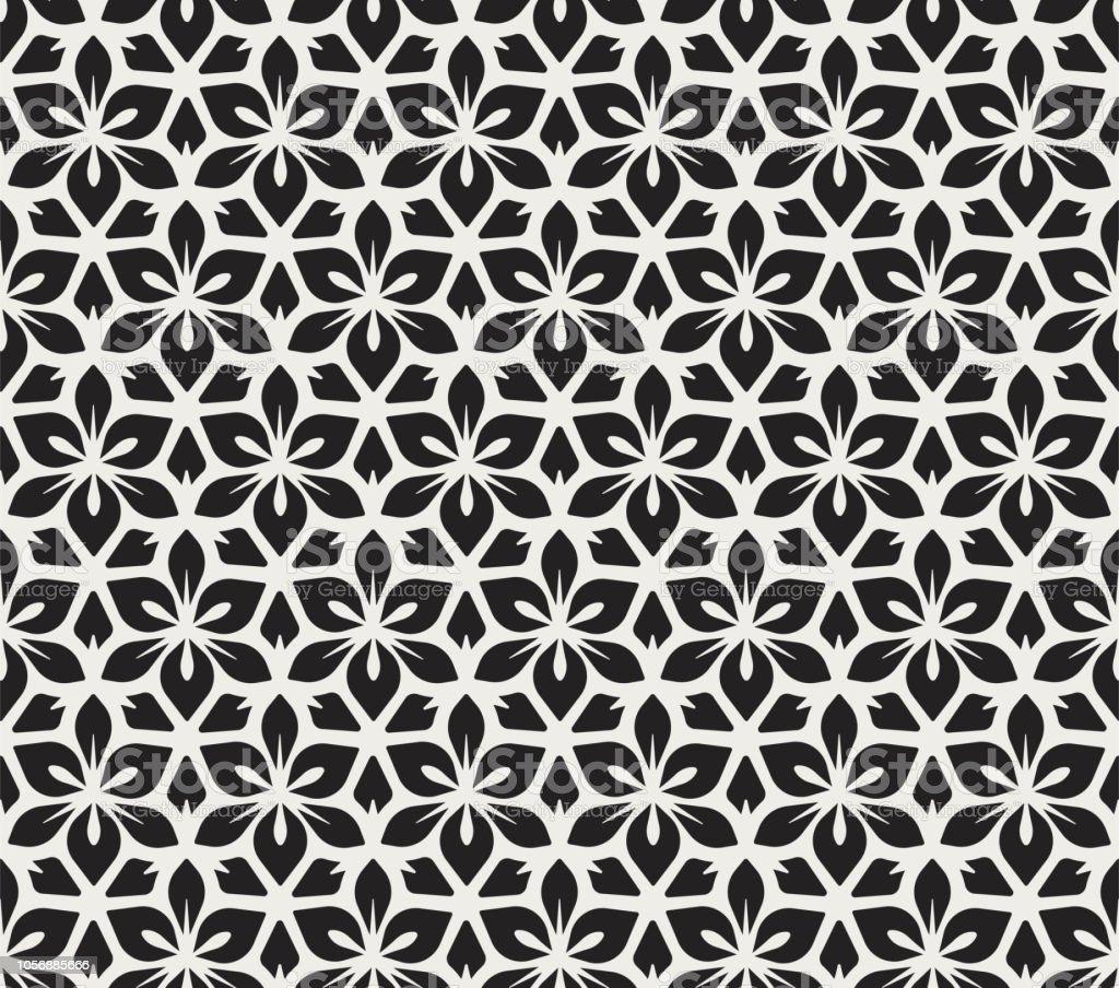 Nahtlose Arabesque Floralen Muster Artdecostil Hintergrund Vektor