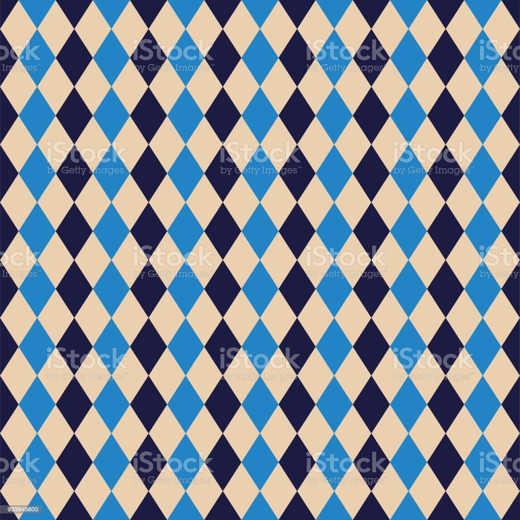 Seamless Argyle Diamond Harlequin Pattern Texture Background Wallpaper Royalty Free