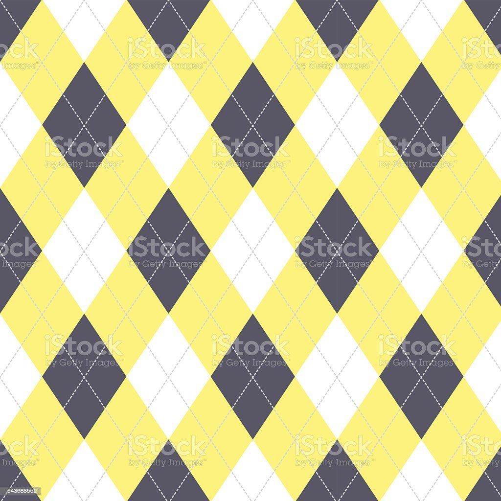 Seamless argyle pattern. Diamond shapes background. vector art illustration