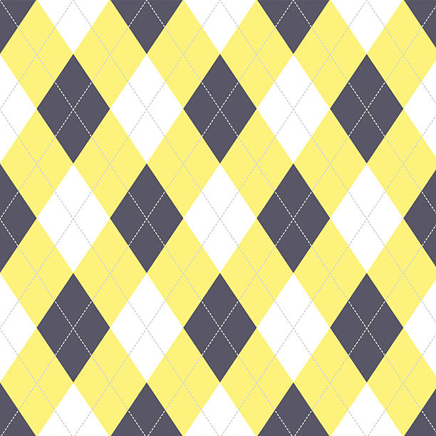 Seamless argyle pattern. Diamond shapes background. vector art illustration