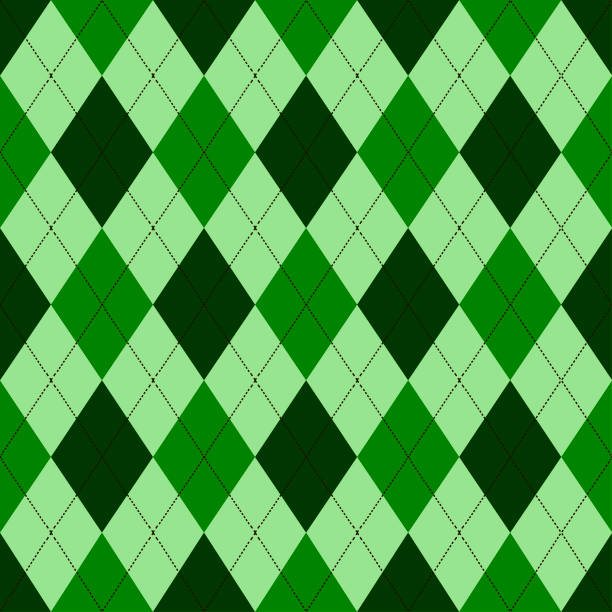 Seamless argyle pattern in shades of green with white stitch. Vector illustration. Seamless argyle pattern in shades of green with white stitch. Vector illustration. Anglo American stock illustrations