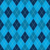 Seamless argyle pattern. Retro blue color .Vector,