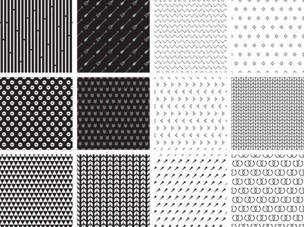 Seamless Arrow Patterns vector art illustration