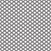 Seamless Art Deco scallop pattern background