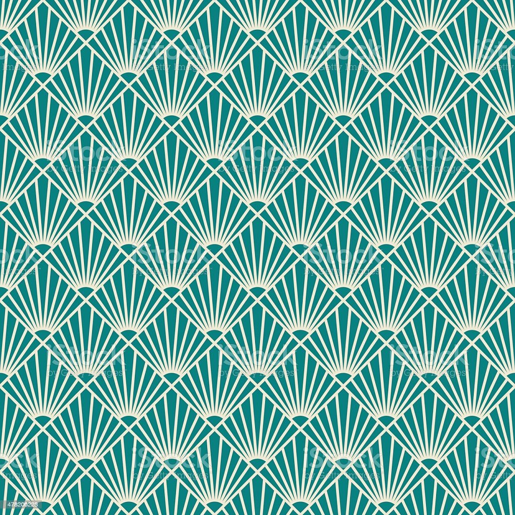 seamless art deco sunburst pattern. vector art illustration