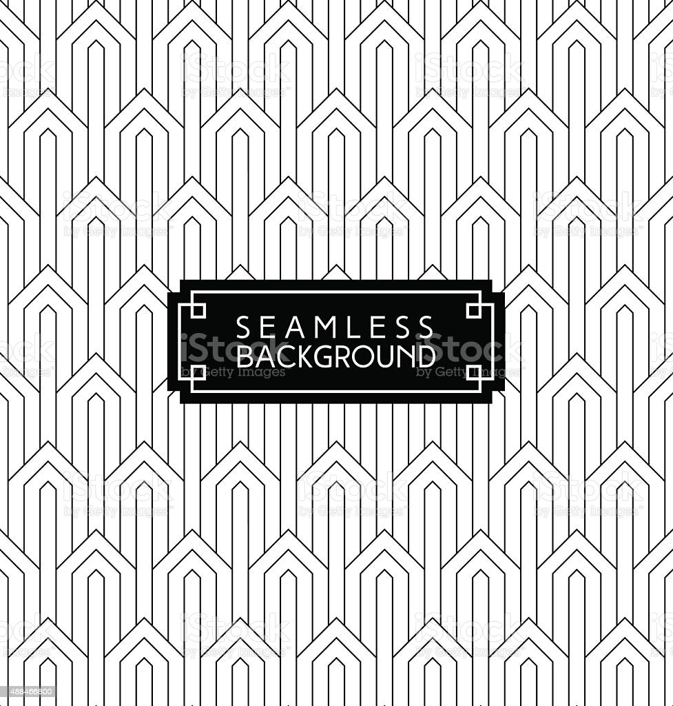 seamless art deco wallpaper vector art illustration