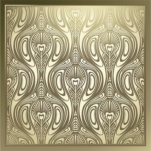 Seamless Art Nouveau vector art illustration