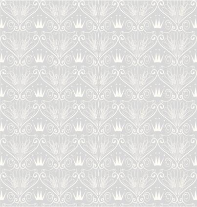 Seamless Art-Deco Crown Wallpaper ( Vector )