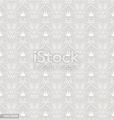 istock Seamless Art-Deco Crown Wallpaper ( Vector ) 165028696