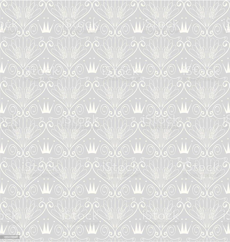 Seamless Art-Deco Crown Wallpaper ( Vector ) vector art illustration