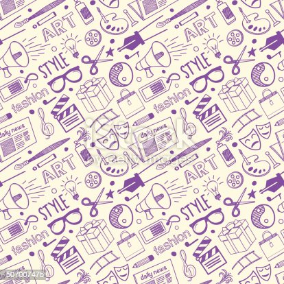 Seamless Arts & Styling Pattern