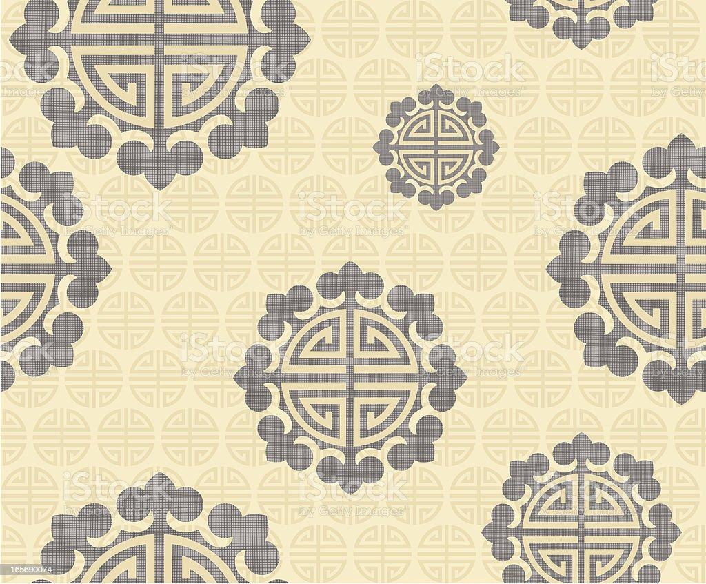 Seamless Asian Art Elements royalty-free stock vector art
