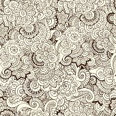 Seamless asian floral retro background pattern in vector.