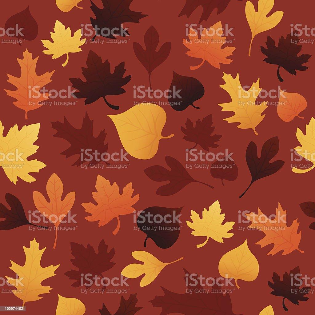 Seamless Autumn Background vector art illustration