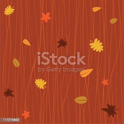 istock Seamless autumn falling leaves 117274842