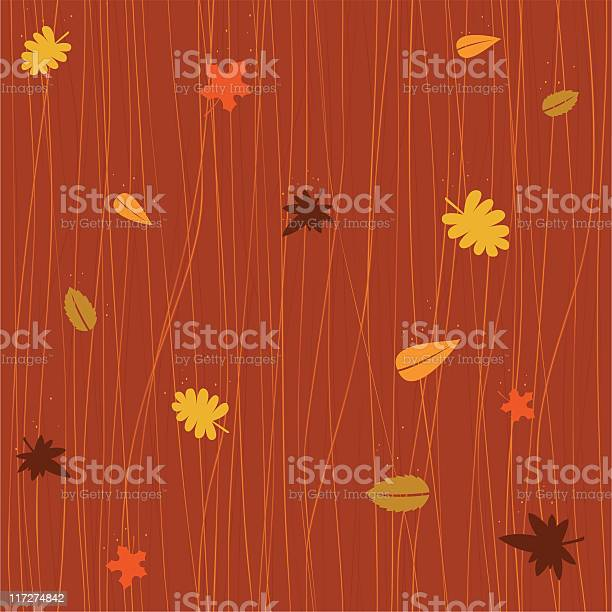 Seamless Autumn Falling Leaves Stock Illustration - Download Image Now